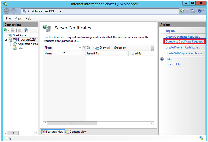 Windows Server 2012 - IIS 8 & 8.5 - SSL Installation