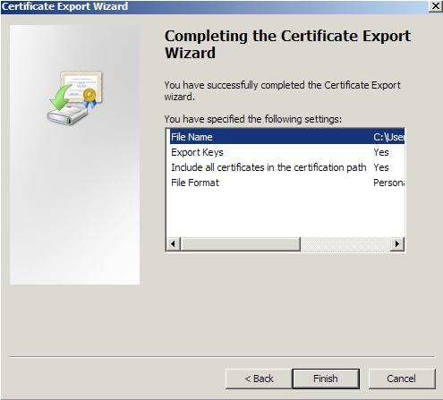 mmc export