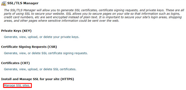 Cpanel ssl installation