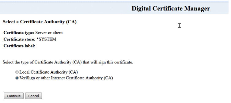 Certificate Signing Request Instructions for IBM AS 400 iSeries