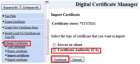SSL Installation Instructions for IBM AS 400 iSeries