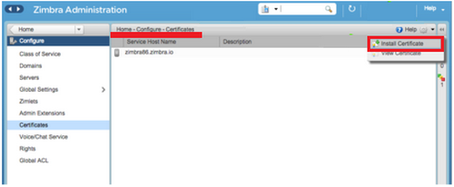 Certificate Signing Request (CSR) Instructions for Zimbra 8 x x