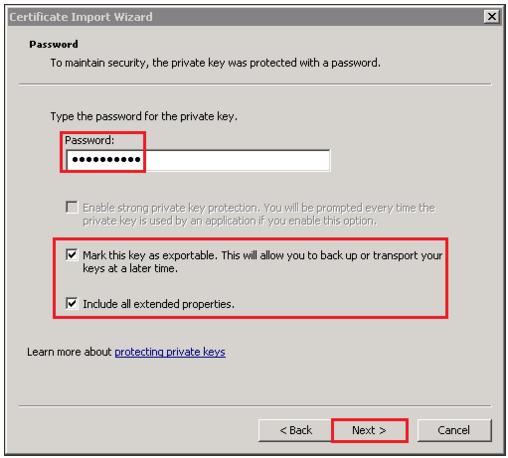 import Password mmc