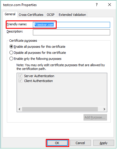 Troubleshooting: Assigning a friendly name to an SSL Certificate in ...