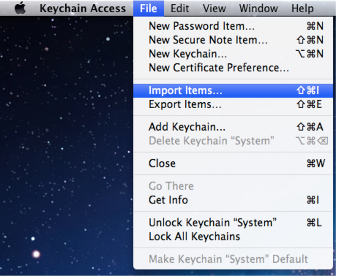 MAC OS X KeyChain Access