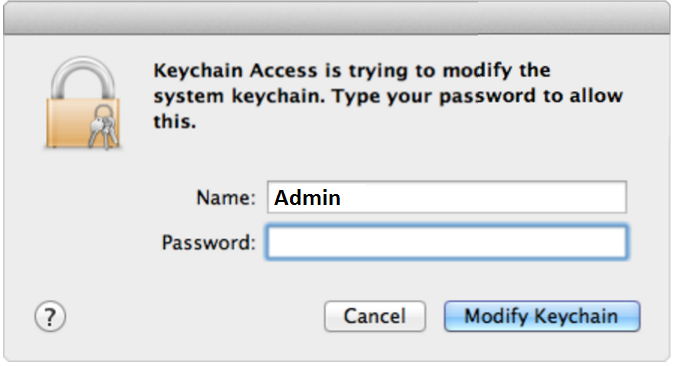 Mac OS X Keychain Access password