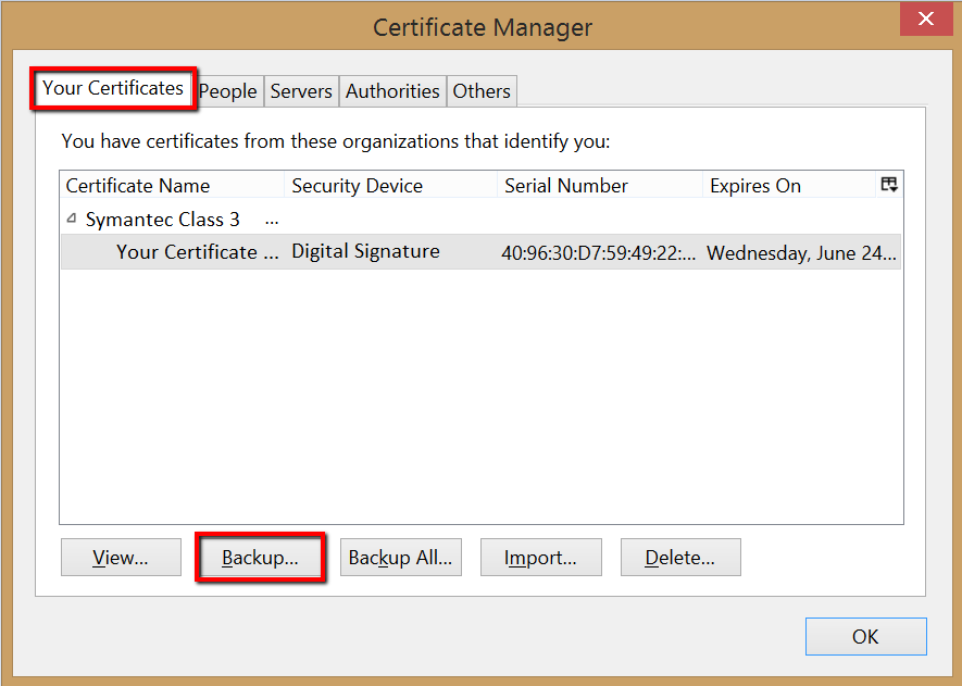 How To Export A Certificate From Firefox