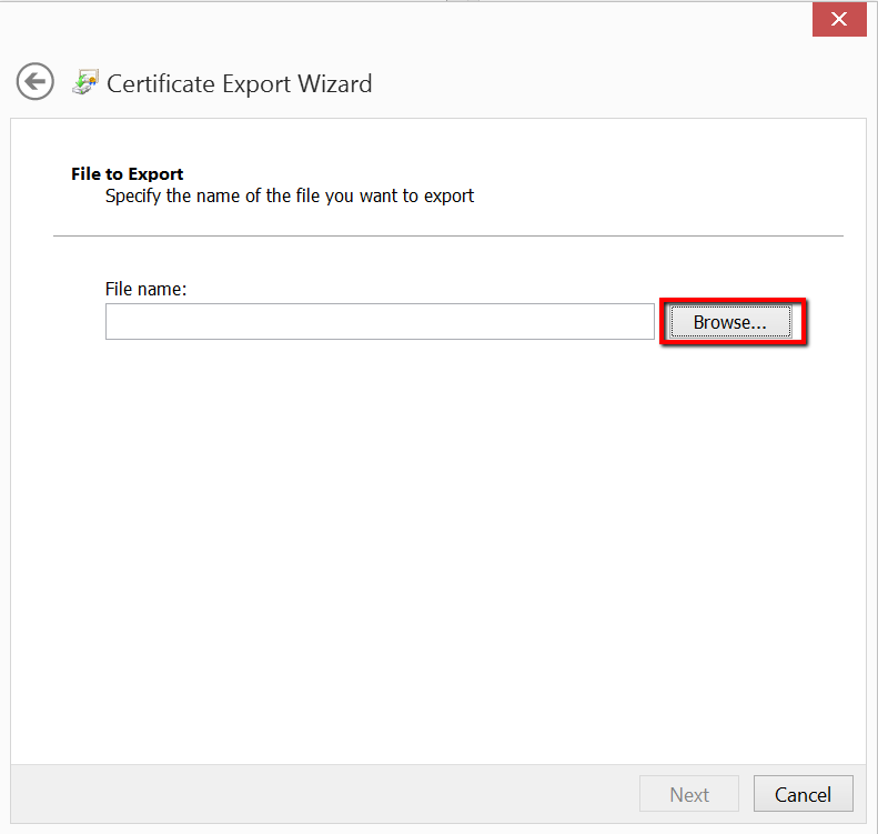 IS certificate export Wizard