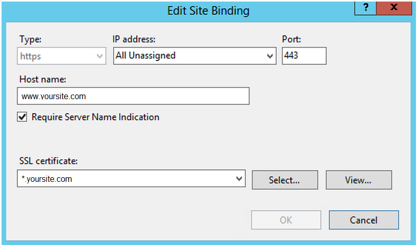 IIS 8 https binding edit