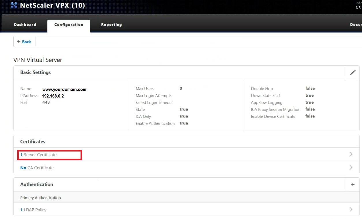 Citrix netscaler vpx 10 loadbalancer ssl installation editingyournetscalervirtualserver xflitez Image collections