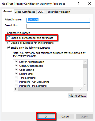 How To Enable Or Import A Root Certifciate In Windows Systems Using