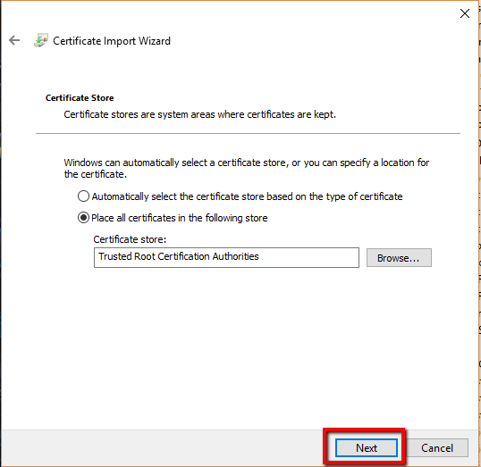 How To Enable Or Import A Root Certifciate In Windows