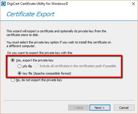 Digicert Certificate Utility - SSL Export Instructions. (pfx or pem ...