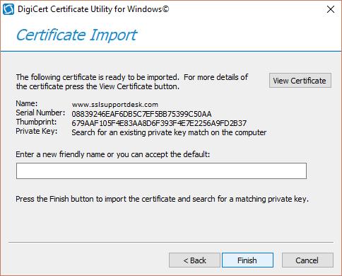 Digicert Certificate Utility - CSR Generation & SSL