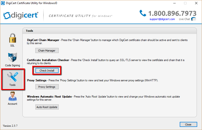 Digicert Certificate Utility - SSL Installation Checker -