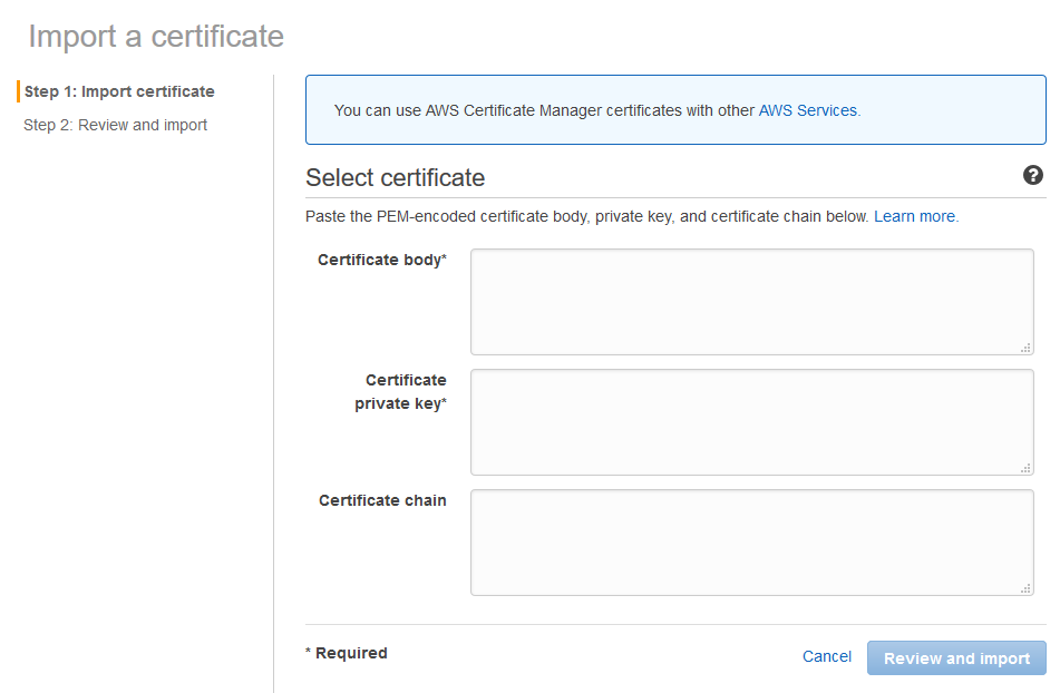 Amazon Web Services Aws Csr Generation Ssl Installation Using