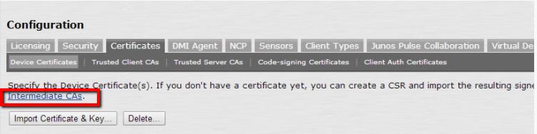 Pulse Secure - SSL Installation -