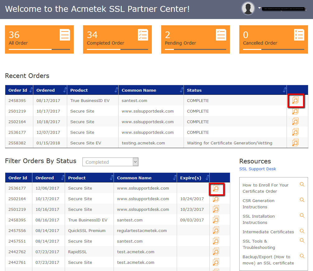 Ssl Partner Center How To Download Certificate Intermediates