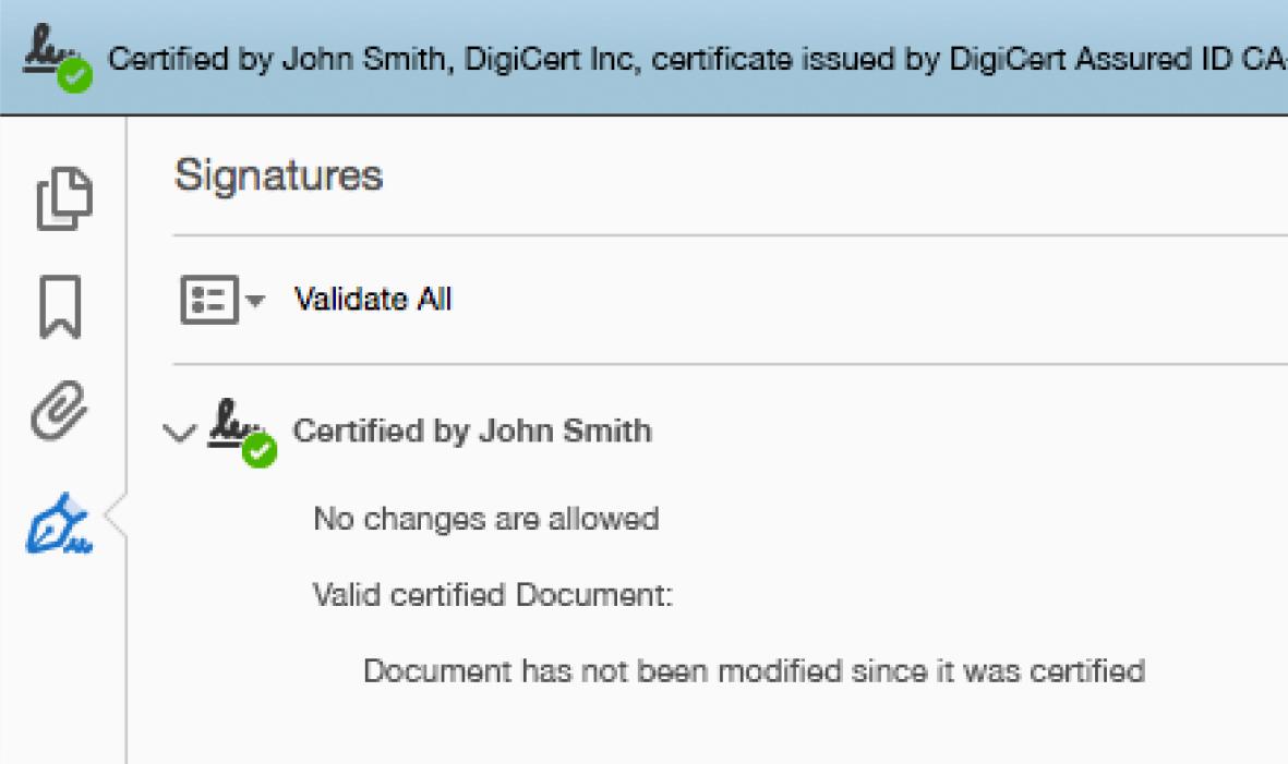 Document Signing Certificates